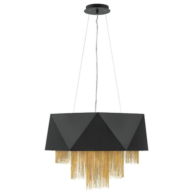 Fabien 8-Light Drum Chandelier Finish: Satin Black