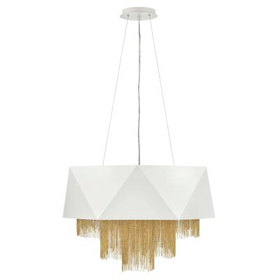 Fabien 8-Light Drum Chandelier Finish: Warm White