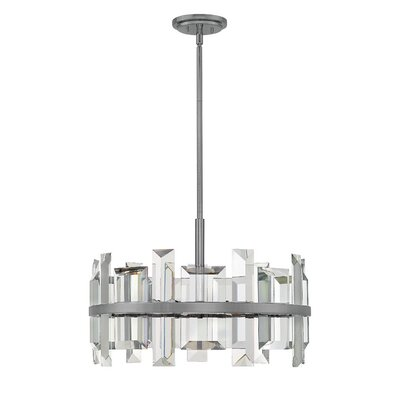 Reynosa 6-Light Drum pendant Finish: Gunmetal