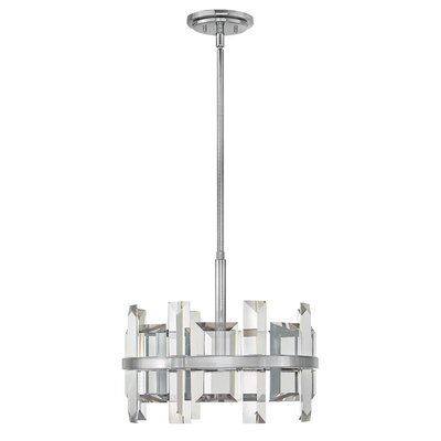 Reynosa 4-Light Drum pendant Finish: Polished Nickel