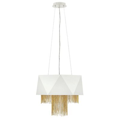 Fabien 6-Light Drum Pendant Finish: Warm White