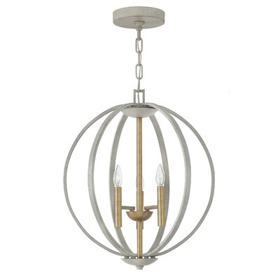 Kieran 3 Light Foyer Pendant Finish: Cement Gray
