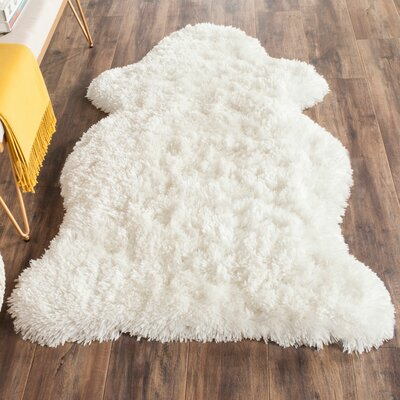 Chantrell Hand-Tufted/Hooked Ivory Area Rug Rug Size: Rectangle 26 x 4