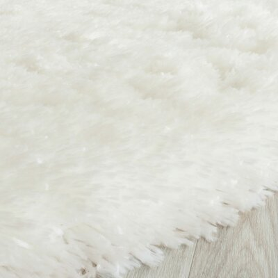 Earley Shag White Area Rug Rug Size: Square 5