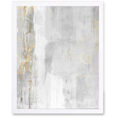 'Abstract Elegance' Framed Painting Print on Canvas Format: Framed, Size: 15