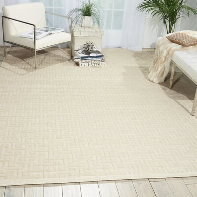 Blondelle Ivory Area Rug Rug Size: Rectangle 76 x 96