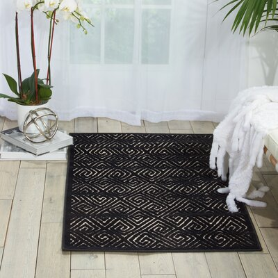 Blondelle Black Area Rug Rug Size: 5'3