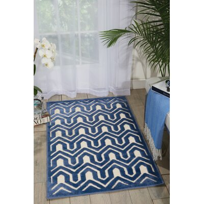 Beaconsfield Ivory/Blue Area Rug Rug Size: Rectangle 26 x 4