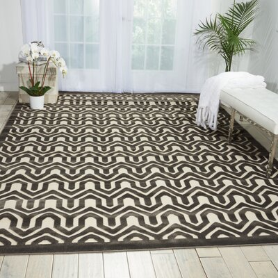 Beaconsfield Charcoal/Ivory Area Rug Rug Size: Rectangle 36 x 56