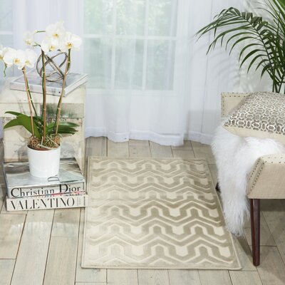 Beaconsfield Ivory/Light Gray Area Rug Rug Size: 22 x 39