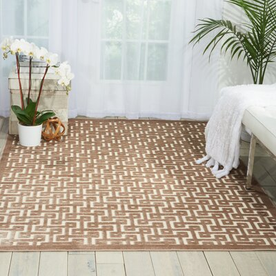 Blondelle Ivory/Mocha Area Rug Rug Size: Rectangle 36 x 56