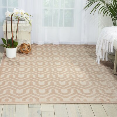 Beaconsfield Ivory/Sand Area Rug Rug Size: Rectangle 36 x 56