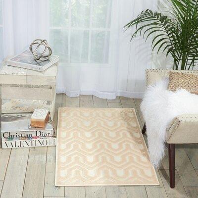 Beaconsfield Ivory/Sand Area Rug Rug Size: 22 x 39