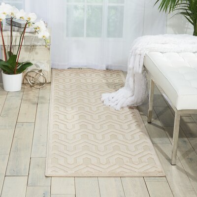 Beaconsfield Ivory/Sand Area Rug Rug Size: Runner 22 x 7