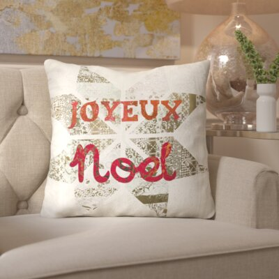 Star Noel Throw Pillow Color: Red