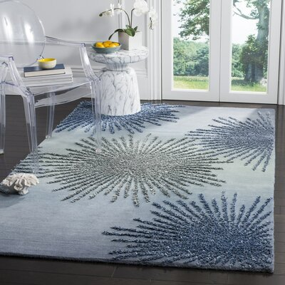 Germain Hand-Tufted Gray/Blue Area Rug Rug Size: Rectangle 2 x 3