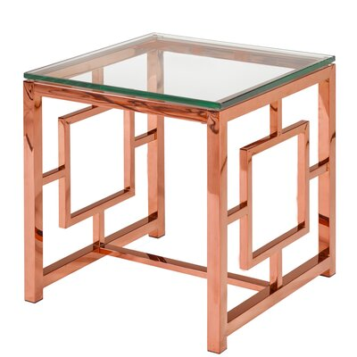 Rhoads Stainless Steel End Table Color: Rose Gold