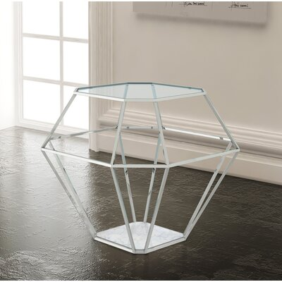 Clarisse End Table Color: Silver