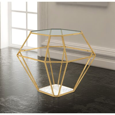Clarisse End Table Color: Gold