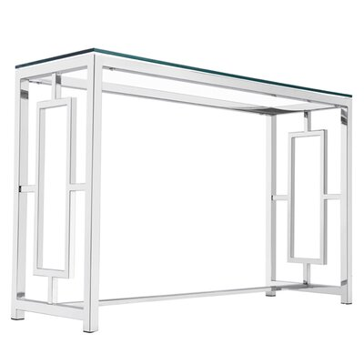 Rhoads Stainless Steel Console Table