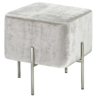 Britannia Square Ottoman Color: Gray