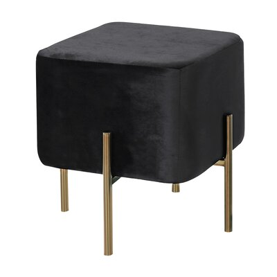 Britannia Square Ottoman Color: Black/Gold