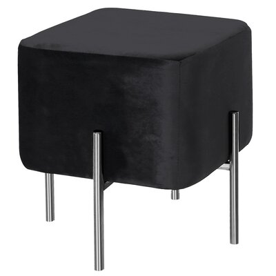 Britannia Square Ottoman Color: Black