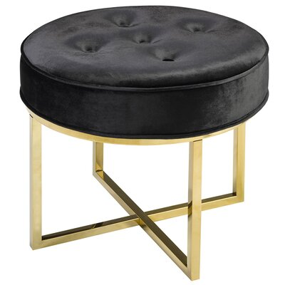 Rhymes Round Ottoman Color: Black