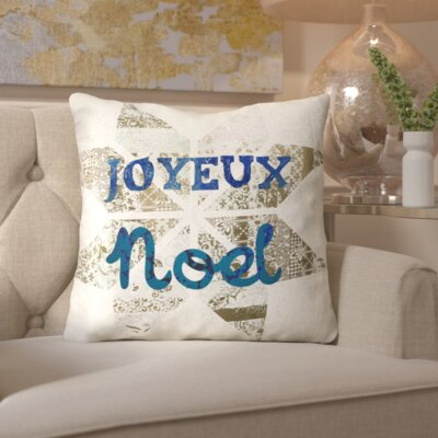Star Noel Throw Pillow Color: Blue