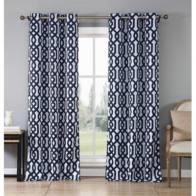 Morton Geometric Blackout Grommet Curtain Panels LNPK5587 38374408