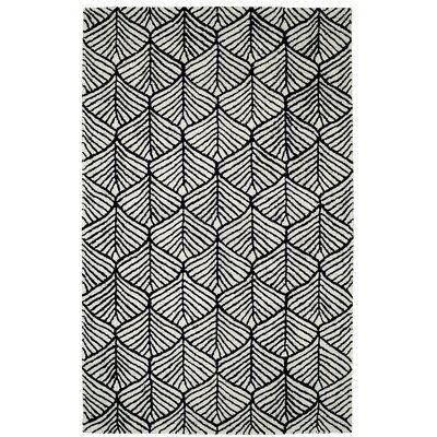 Gertrut Black/White Area Rug Rug Size: 8 x 11