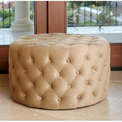 Connelly Upholstered Ottoman Upholstery: Gold