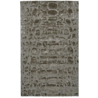 Gina Hand-Tufted Pewter Area Rug Rug Size: Rectangle 36 x 56