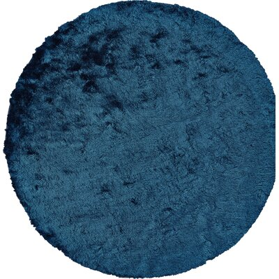 Rasalhague Hand-Tufted Teal Area Rug Rug Size: Round 10'