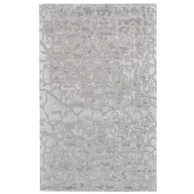Gina Hand-Tufted Gray Area Rug Rug Size: Rectangle 36 x 56