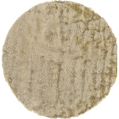 Rasalhague Hand-Tufted Cream Area Rug Rug Size: Round 10