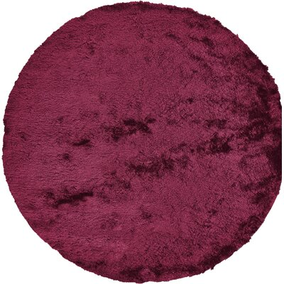 Danae Hand-Tufted Cranberry Area Rug Rug Size: Round 10