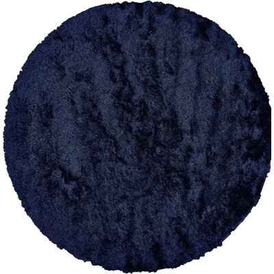 Danae Hand-Tufted Blue Area Rug Rug Size: Round 10