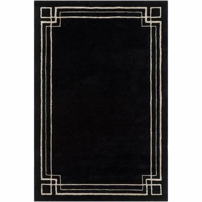 Intermezzo Hand-Tufted Border Area Rug Rug Size: 5 x 76