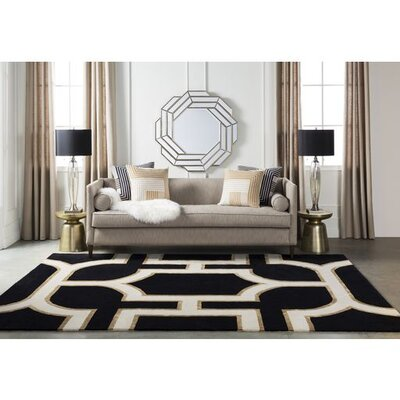 Rudnick Hand-Tufted Modern Area Rug Rug Size: 2' x 3'