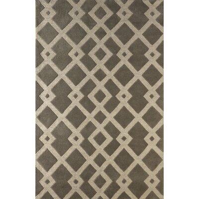 Glenside Hand-Tufted Steel Area Rug Rug Size: 4 x 6