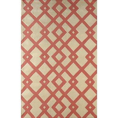 Glenside Hand-Tufted Sorbet Area Rug Rug Size: 6 x 9