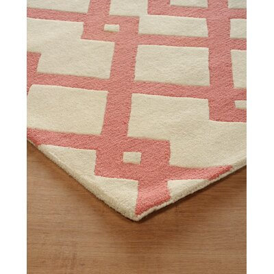 Glenside Hand-Tufted Sorbet Area Rug Rug Size: Rectangle 4 x 6
