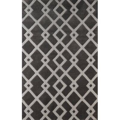 Glenside Hand-Tufted Dark Iris Area Rug Rug Size: 5 x 8