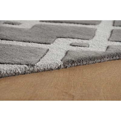 Glenside Hand-Tufted Dark Iris Area Rug Rug Size: Rectangle 4 x 6