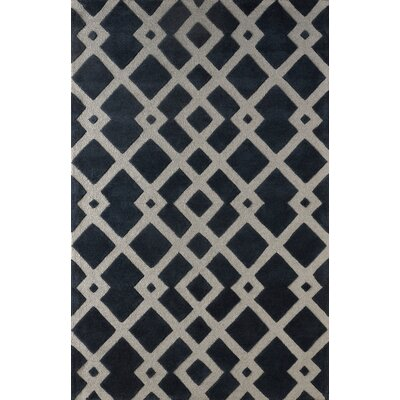 Glenside Hand Tufted Midnight Navy Area Rug Rug Size: 6 x 9