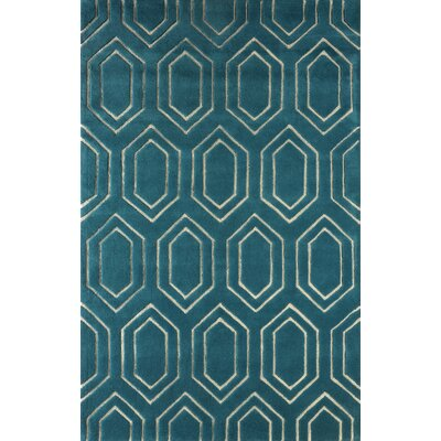 Graceland Hand Tufted Lapis Area Rug Rug Size: 5 x 8