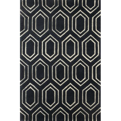 Graceland Hand-Tufted Midnight Navy Area Rug Rug Size: 4 x 6