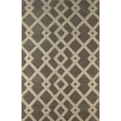 Glenside Hand-Tufted Soot/Brown Area Rug Rug Size: 5 x 8