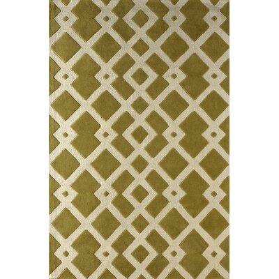 Glenside Hand-Tufted Pear Area Rug Rug Size: 6 x 9